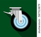 cart wheel icon. flat... | Shutterstock .eps vector #587513879