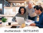 team of office colleagues...   Shutterstock . vector #587516945
