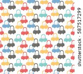 cars. seamless pattern | Shutterstock .eps vector #587517299