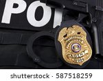 fake prop badge designed by... | Shutterstock . vector #587518259