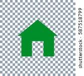 home icon. transporent... | Shutterstock .eps vector #587518799