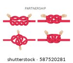 rope knots collection. hand... | Shutterstock .eps vector #587520281