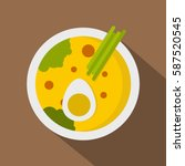 miso soup icon. flat... | Shutterstock .eps vector #587520545