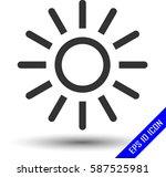 sun icon. flat icon of sun. sun ...