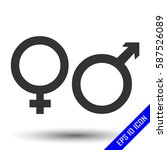 gender icon. flat icon of... | Shutterstock .eps vector #587526089