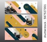 abstract banner vector  layout... | Shutterstock .eps vector #587527301
