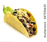 taco isolated on white... | Shutterstock . vector #587550635