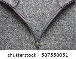 grey fleece fabric texture with ... | Shutterstock . vector #587558051