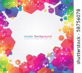 abstract colorful background.... | Shutterstock .eps vector #58756078
