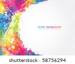 abstract colorful background.... | Shutterstock .eps vector #58756294