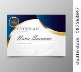 certificate premium template... | Shutterstock .eps vector #587563847