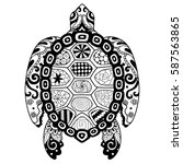 zendoodle stylize of beautiful... | Shutterstock .eps vector #587563865