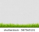 green grass border isolated on... | Shutterstock .eps vector #587565131