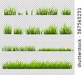 grass set  isolated on... | Shutterstock .eps vector #587565251
