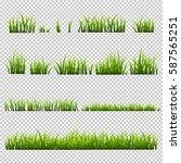 grass set  isolated on... | Shutterstock .eps vector #587565251