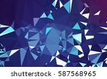 abstract low poly background ... | Shutterstock . vector #587568965