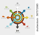 infographic design template... | Shutterstock .eps vector #587572085