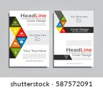 brochure design layout with... | Shutterstock .eps vector #587572091