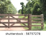 Rural Gate Of Wood On Brazilia...