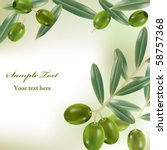 realistic olives background.... | Shutterstock .eps vector #58757368