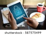 privacy access identification... | Shutterstock . vector #587575499