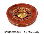 casino roulette wheel on a... | Shutterstock . vector #587578607