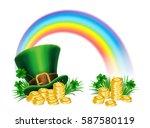 st. patrick's day green... | Shutterstock . vector #587580119