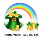 st. patrick's day green... | Shutterstock . vector #587580125