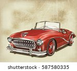 vintage car | Shutterstock . vector #587580335