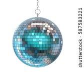 disco ball isolated. 3d... | Shutterstock . vector #587583221