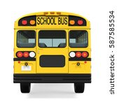 School Bus Isolated. 3d...