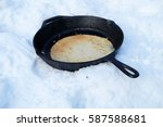 Frying Pan With A Cooked...