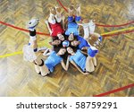 volleyball game sport with... | Shutterstock . vector #58759291