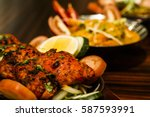 traditional indian dish of... | Shutterstock . vector #587593991