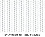 honeycomb on a white... | Shutterstock .eps vector #587595281