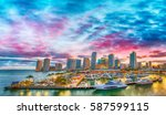 magnificent dusk colors of... | Shutterstock . vector #587599115