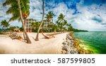 beautiful coast of florida  usa.   Shutterstock . vector #587599805