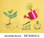 top view investment is like... | Shutterstock . vector #587600411