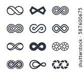infinity vector symbols | Shutterstock .eps vector #587600675
