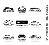 cars   collection of vector... | Shutterstock .eps vector #587600681