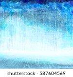 grunge blue scratching interior ... | Shutterstock .eps vector #587604569