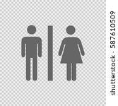 lady and man toilet sign vector ... | Shutterstock .eps vector #587610509