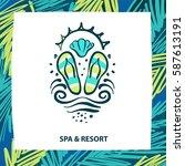 spa and resort illustration.... | Shutterstock .eps vector #587613191