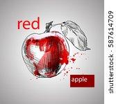 creative graphic hand drawn... | Shutterstock .eps vector #587614709