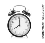 alarm clock isolated on white | Shutterstock . vector #587619329