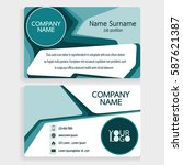 blue business card design... | Shutterstock .eps vector #587621387