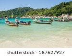 thailand  phuket  winter 2017   ... | Shutterstock . vector #587627927