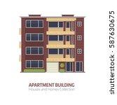 modern apartment building for... | Shutterstock .eps vector #587630675