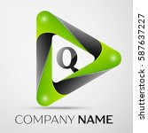 letter q vector logo symbol in... | Shutterstock .eps vector #587637227