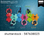 businessman and lady... | Shutterstock .eps vector #587638025
